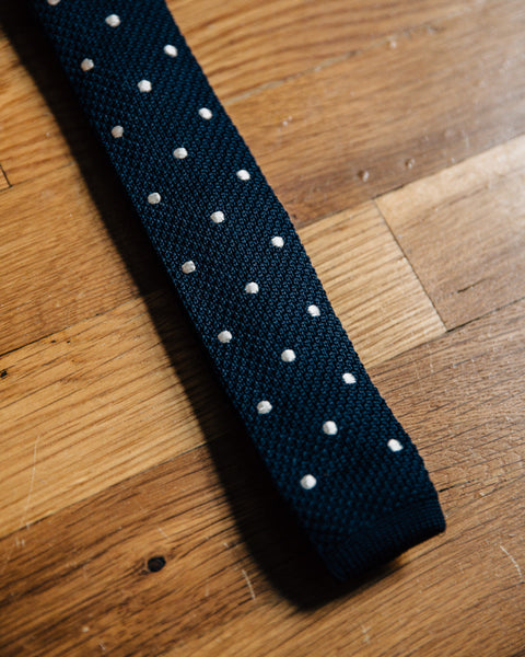 The Kinks Skinny Tie - Navy - Shop Stay Classic - 3