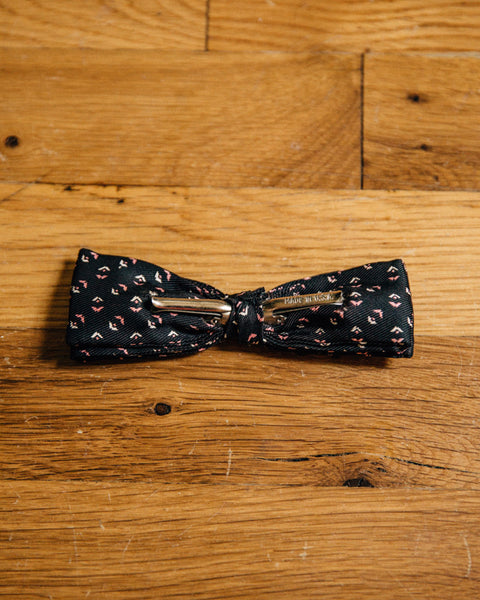 Vintage Black Bow Tie with Pink Accents - Shop Stay Classic - 2
