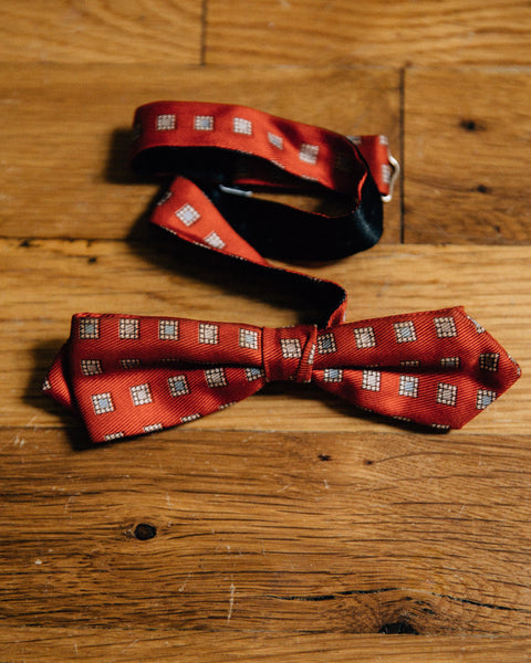 Vintage Red Diamont Tip Bow Tie - Shop Stay Classic