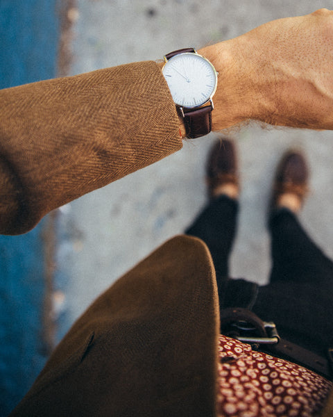 The Minimalist Leather Watch - Brown - Shop Stay Classic - 4
