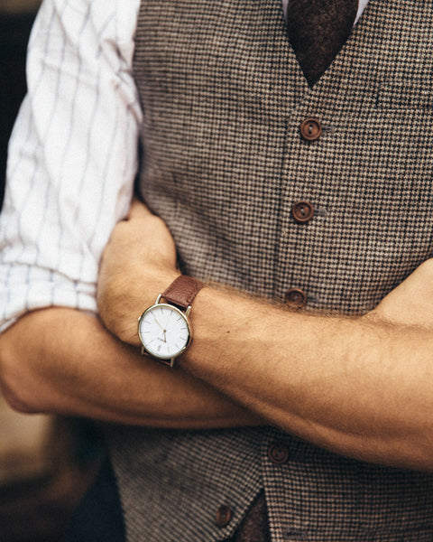 The Vegan Minimalist Watch - Brown - Shop Stay Classic - 5