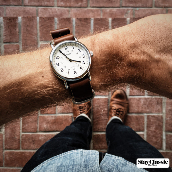 Leather NATO Watch Strap - Shop Stay Classic - 5