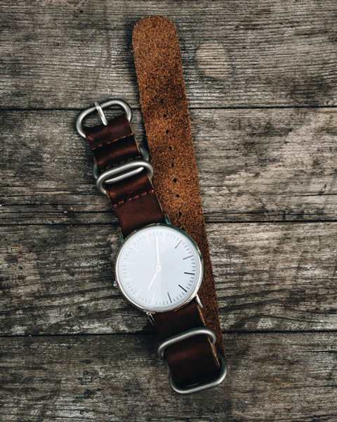 Leather NATO Watch Strap - Shop Stay Classic - 6