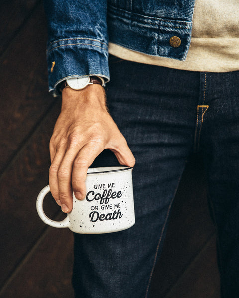 Give Me Coffee or Give Me Death Campfire Mug - White - Shop Stay Classic - 3
