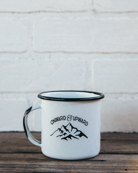 Onward & Upward Enamel Camp Mug - Shop Stay Classic - 1