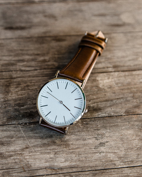 The Minimalist Leather Watch - Brown