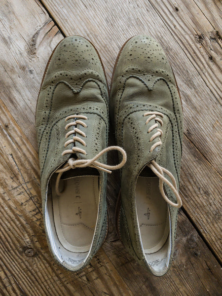 J. Shoes Charlie - Green Suede