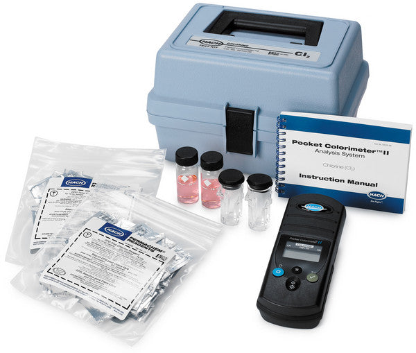 Chlorine (Free & Total), Pocket Colorimeter II Test Kit