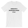 YOCN Preposition Tee for Men