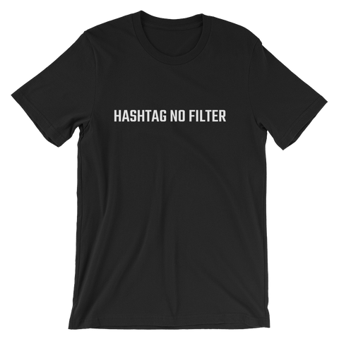 YOCN Hashtag No Filter Tee for Men (black)