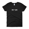 YOCN me > you Tee for Women (black)
