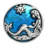 Mermaid Shaped 20mm enamel snap button jewelry
