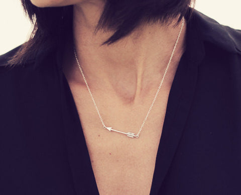 "Silver Arrow Necklace on 18"" Sterling Silver Chain with 2"" extender"