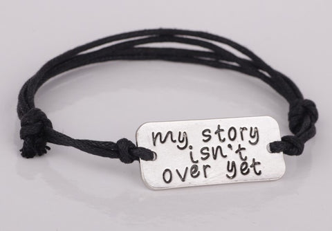 My Story Isn't Over - Hand Stamped Bracelet