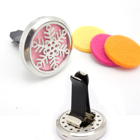 Snow Flake Aromatherapy Car Diffuser 30mm