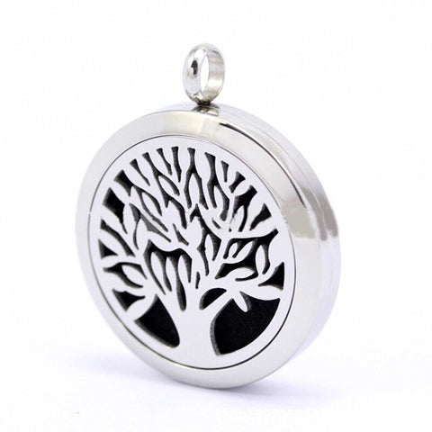 Tree of Life Essential Oil Diffuser Pendant Necklace