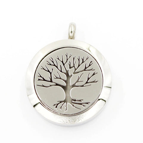 Tree of Life Trunk 30mm Aromatherapy Essential Oil Diffuser Pendant Necklace