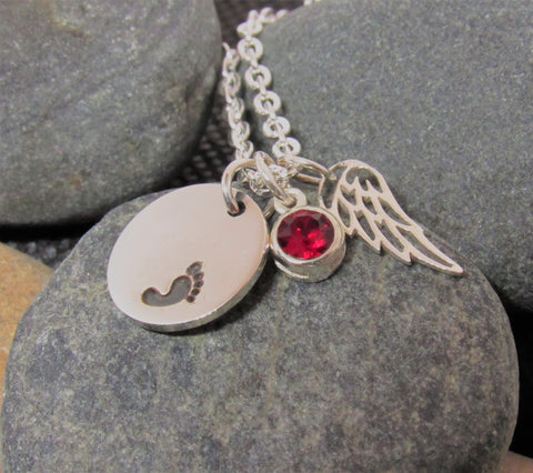 Memorial Necklace Infant Loss, Miscarriage Loss