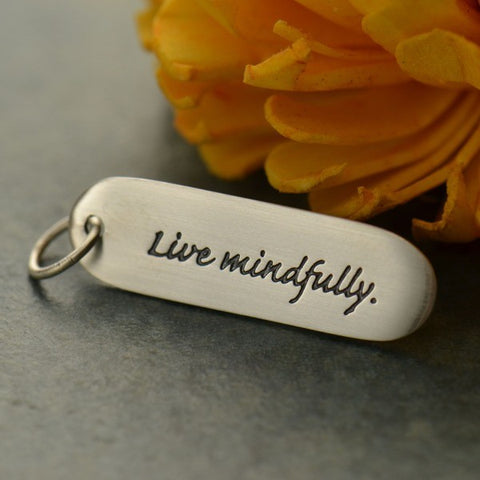 Live Mindfully Pendant Necklace