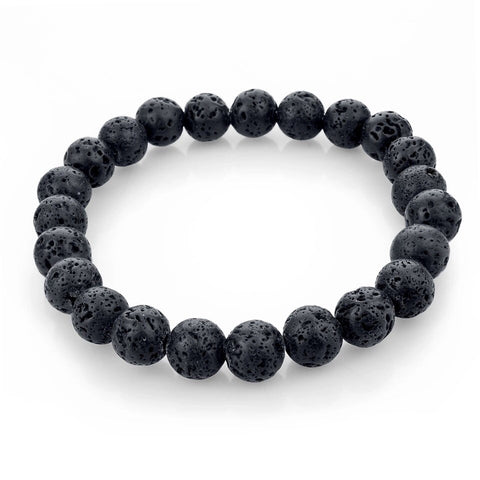 Black Lava Natural Stone Essential Oil Diffusing Bracelet