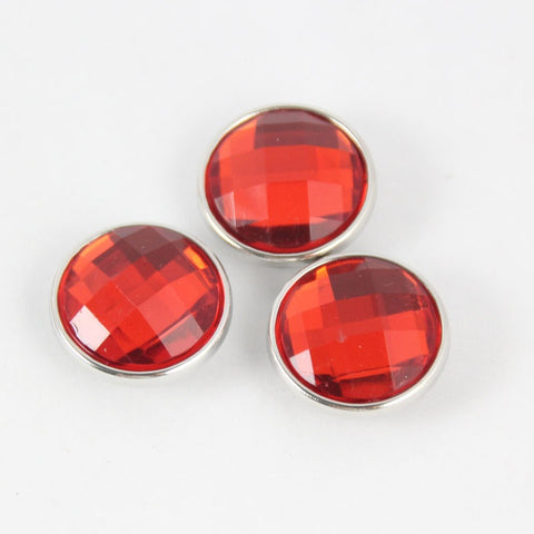 Mix colors 18mm glass snap button jewelry