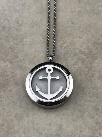 Anchor Aromatherapy Diffuser Necklace