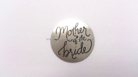 SILVER MOTHER OF THE BRIDE FLOATING PLATES 22mm fits magnetic memory lockets 30mm