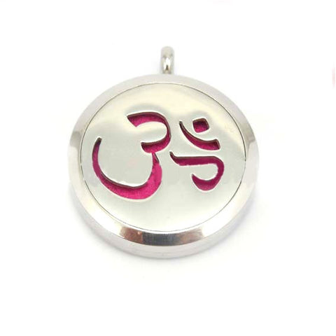 Aromatherapy Essential Oil Diffuser Locket Pendant 30mm