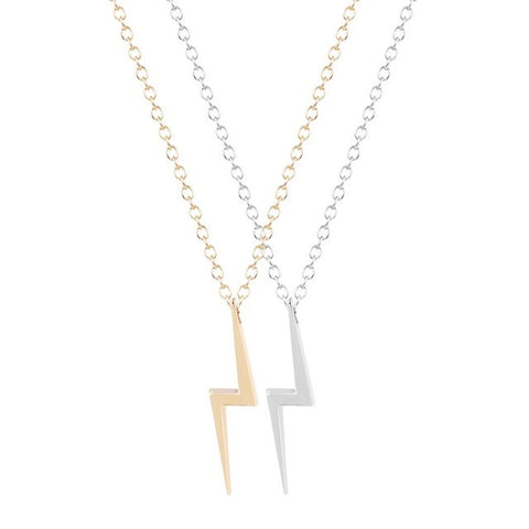 Lightning Bolt Charm Necklace Pendant for Girls and Women