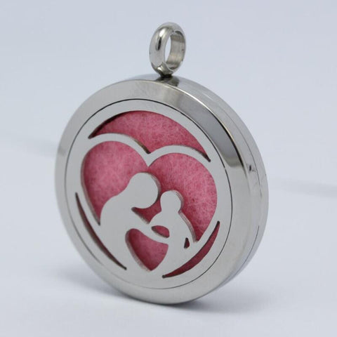 Mother and Child Aromatherapy Diffuser Necklace
