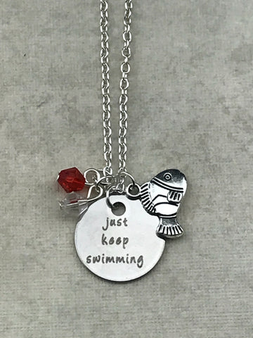 Just Keep Swimming Pendant Necklace