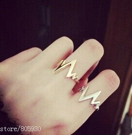 Girl lovers' Lightning finger ring jewelry gifts wholesale R1290