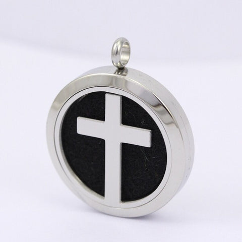 Cross Aromatherapy Diffuser Necklace