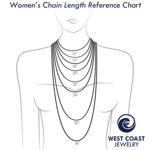 Womens Necklace Sizing Guide