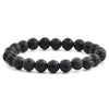Black Lava Natural Stone Bead Bracelet