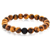 Tiger's Eye Natural Stone Bead Bracelet