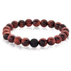 Red Tiger's Eye Natural Stone Bead Bracelet