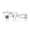 Crucible Men's High Polished Espresso Coffee Cup Cuff Links
