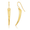 ELYA Gold Plated Curved Stainless Steel Dangle Earrings