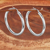 ELYA Large Stainless Steel Hoop Earrings