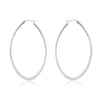 ELYA Large Oval Stainless Steel Hoop Earrings