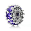 Pacific Beads Silver Plated Crystal Bead -