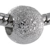 Silver Plated Glittering Sparkle Bead