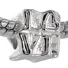 Block Formation Love Silver Plated Bead