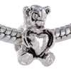 Bear Bead with Heart Center Bead
