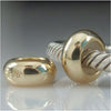 Gold IP Sterling Silver Polished Rubber Stopper