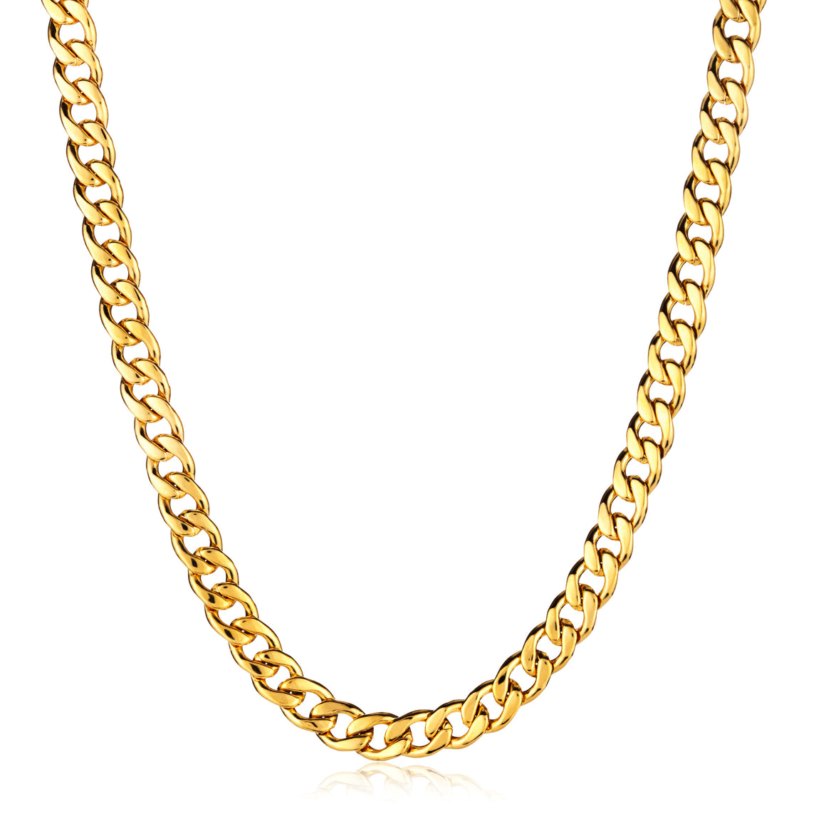 Crucible Men's Stainless Steel Curb Chain Necklace