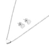 ELYA Heart Shaped Necklace and Earrings Jewelry Set