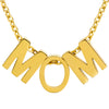 ELYA Polished 'MOM' Pendant Stainless Steel Necklace - 18""