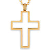 ELYA Women's High Polished Open Cross Stainless Steel Pendant